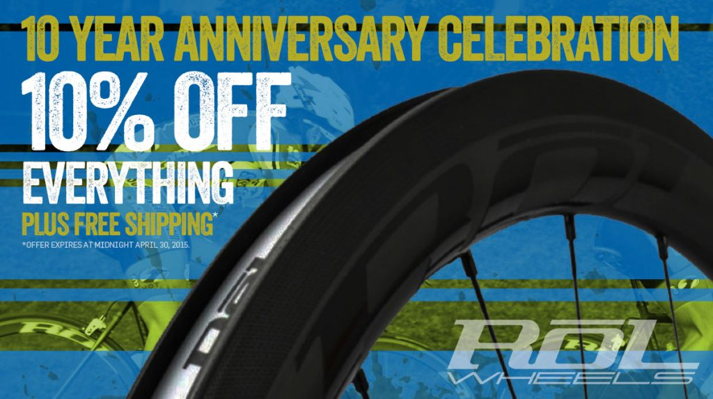 ROL Wheels 10% Off Campaign Online Graphic